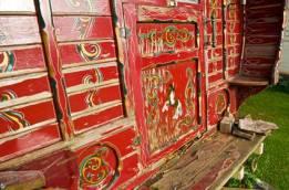 exterior - painted vardo
